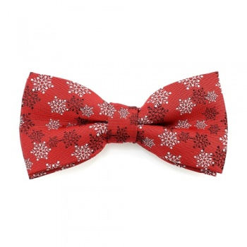 Red Snowflake Bow Tie